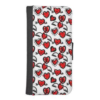 Anti-Valentine Sketch Pattern Phone Wallet