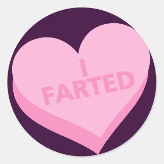 Anti-Valentine's Day Classic Round Sticker
