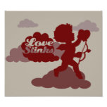Anti-Valentines Day Cupid Art Poster