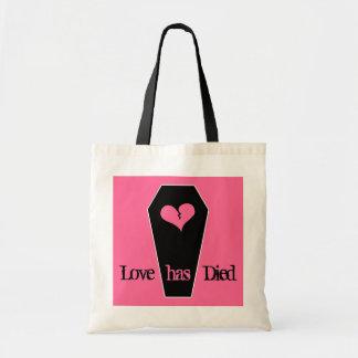 Anti Valentine's day cute broken heart on coffin Budget Tote Bag