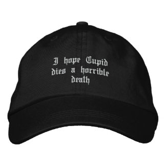 Anti Valentine's Day Embroidered Hat