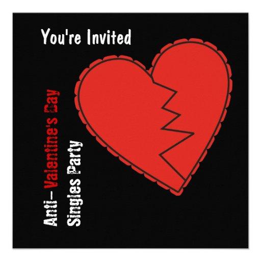 Anti-Valentine's Day Party Invitation