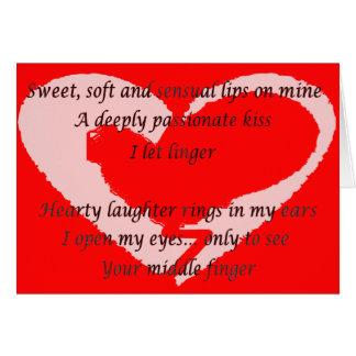 Anti-Valentine's Day Poem - Customized Card