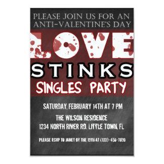 Anti-Valentine's Love Stinks Singles Party Card