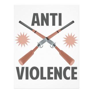 Anti Violence Personalized Letterhead