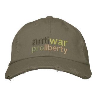 Anti War Embroidered Hat