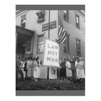 Anti-War Rally, 1920s Postcard