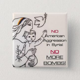 Anti-war Syria button
