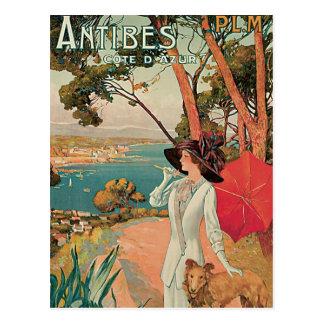 Antibes Côte d'Azur France Vintage Postcard