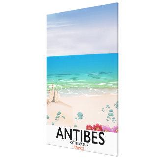 Antibes France Beach poster Canvas Print