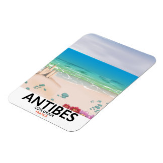 Antibes France Beach poster Magnet