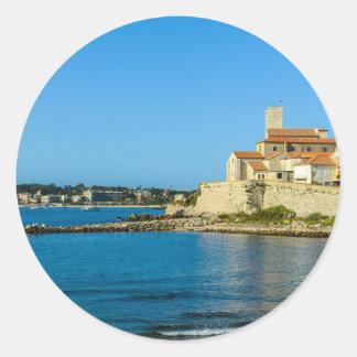 Antibes France Classic Round Sticker