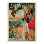 Antibes France Vintage Travel Advertisement Poster