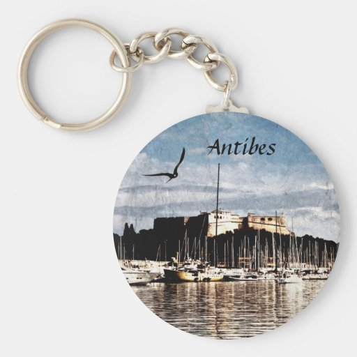 Antibes harbor keychain