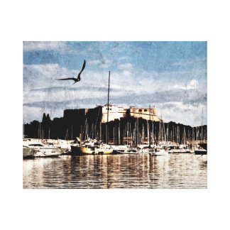 Antibes, Provence harbor canvas print
