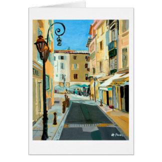 Antibes Street Scene Card