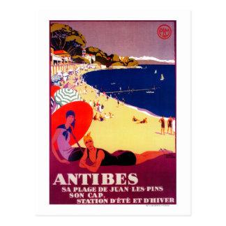 Antibes Vintage PosterEurope Postcards