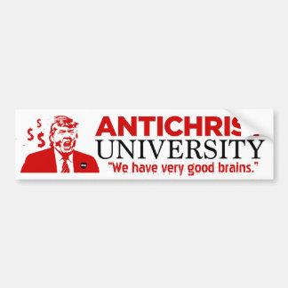 ANTICHRIST UNIVERSITY Trump Bumper Sticker