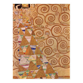 Anticipation by Gustav Klimt Postcard