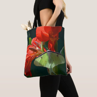 """""""Anticipation of the Night"""" - Luna Moth Painting Tote Bag"""