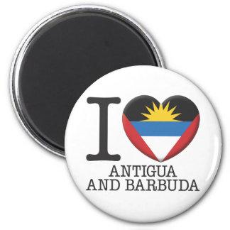 Antigua and Barbuda 2 Inch Round Magnet