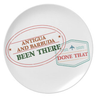 Antigua and Barbuda Been There Done That Dinner Plates