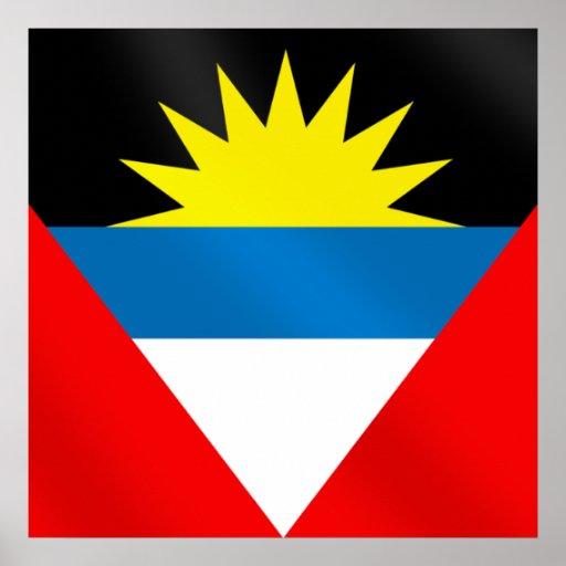Antigua and Barbuda Caribbean Flag Poster
