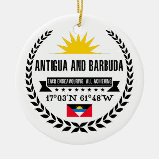 Antigua and Barbuda Ceramic Ornament