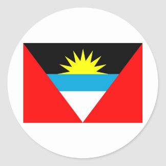 Antigua and Barbuda Classic Round Sticker