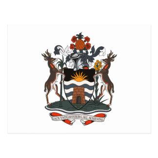 Antigua And Barbuda Coat of Arms Postcard