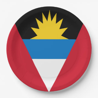 Antigua and Barbuda Flag 9 Inch Paper Plate