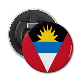Antigua and Barbuda Flag Button Bottle Opener