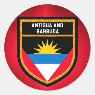 Antigua And Barbuda Flag Classic Round Sticker