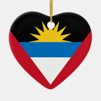 Antigua and Barbuda Flag Heart Ornament