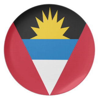 Antigua and Barbuda Flag Party Plates