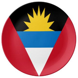 Antigua and Barbuda Flag Porcelain Plates