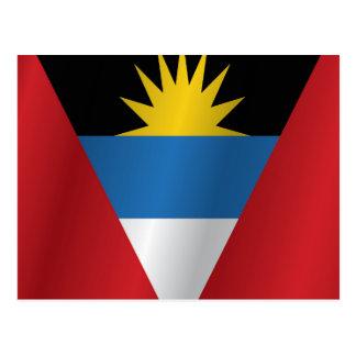 Antigua and Barbuda flag Postcard