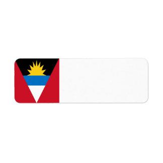 Antigua and Barbuda Flag Return Address Label