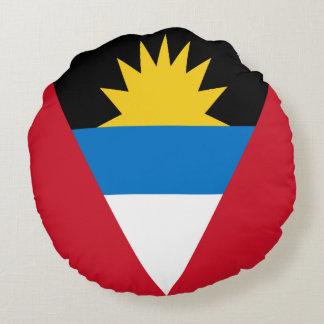 Antigua and Barbuda Flag Round Pillow