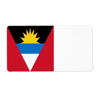Antigua and Barbuda Flag Shipping Label