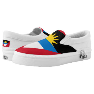 Antigua and Barbuda Flag Slip-On Sneakers