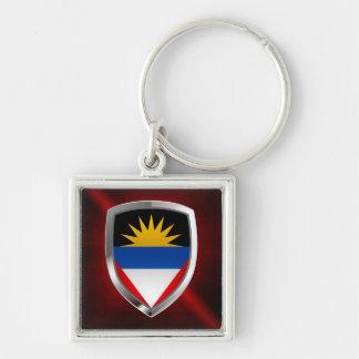 Antigua and Barbuda Mettalic Emblem Keychain