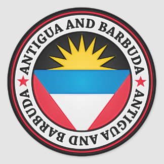 Antigua And Barbuda Round Emblem Classic Round Sticker