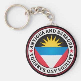 Antigua And Barbuda Round Emblem Keychain