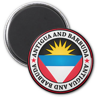 Antigua And Barbuda Round Emblem Magnet
