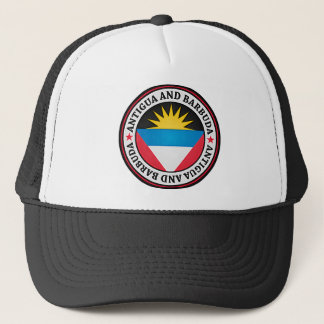 Antigua And Barbuda Round Emblem Trucker Hat