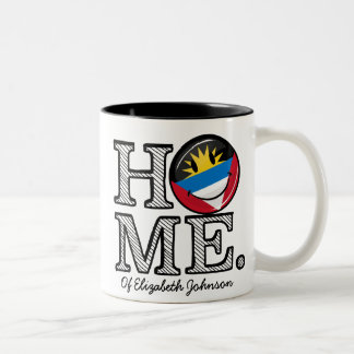 Antigua and Barbuda Smiling Flag Housewarming Two-Tone Coffee Mug