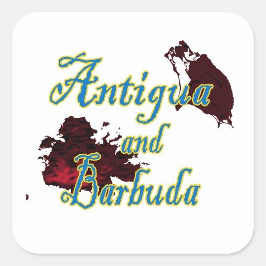 Antigua and Barbuda Square Sticker