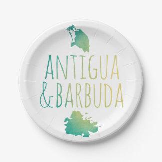 Antigua & Barbuda 7 Inch Paper Plate