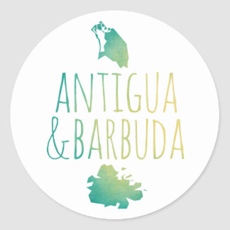 Antigua & Barbuda Classic Round Sticker